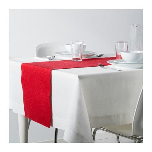 M rit table runner red 35x130 cm ikea - Caminos de mesa ikea ...