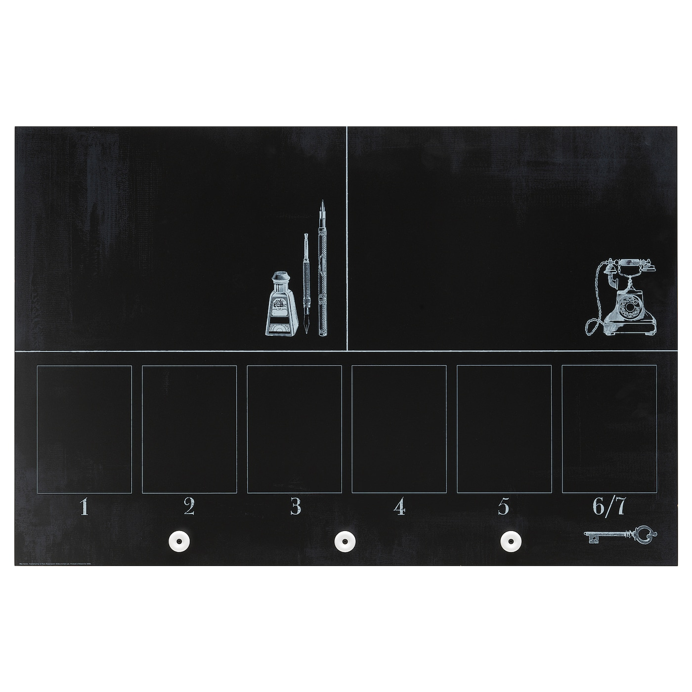 IKEA MLARNA blackboard planner