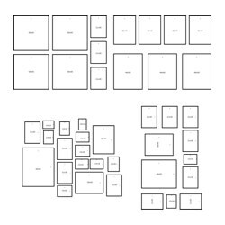 ikea mtteby wall template set of 4 create a personal collage with the wall template