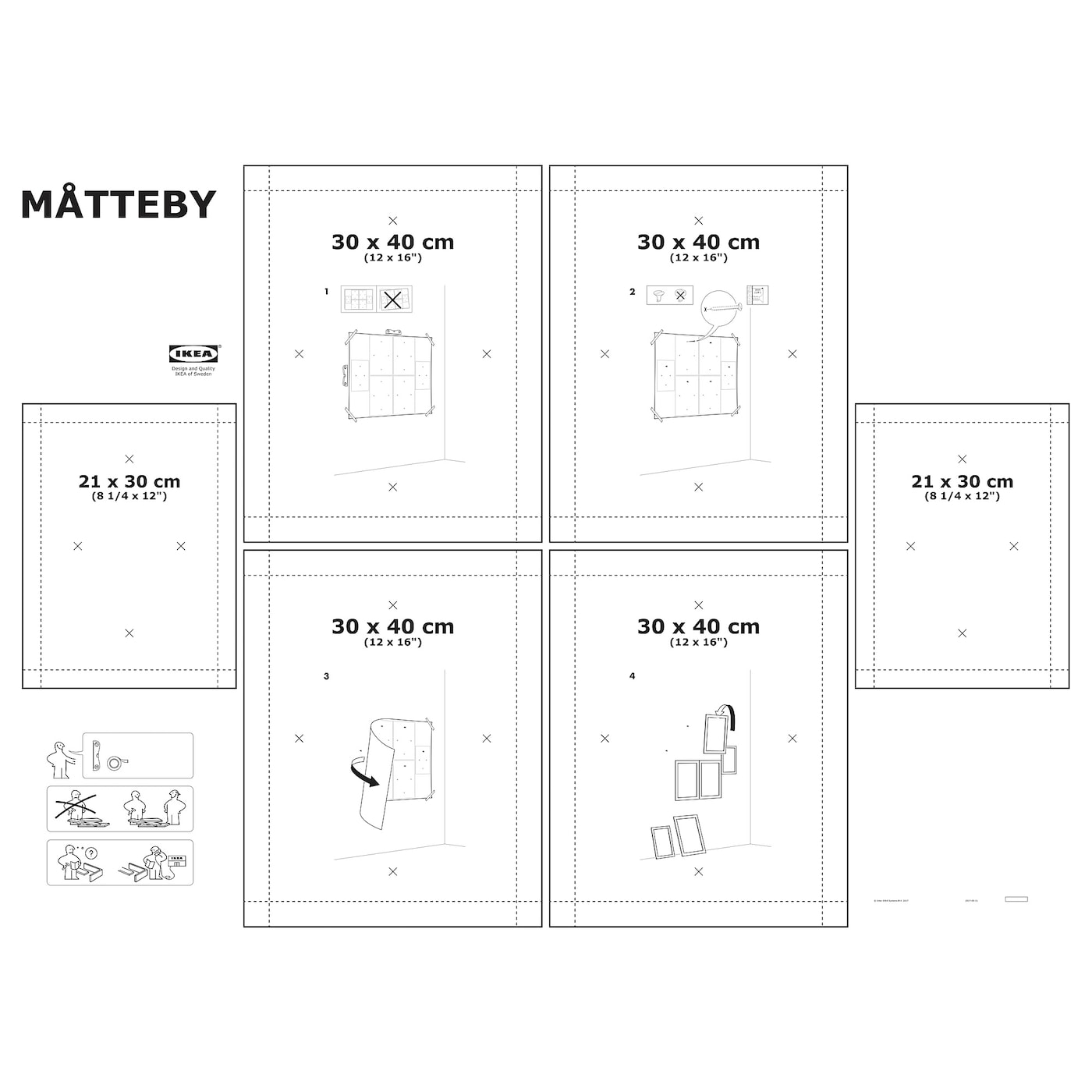 Ikea Matteby Wall Template Set Of 4 Create A Personal Collage With The Wall Template