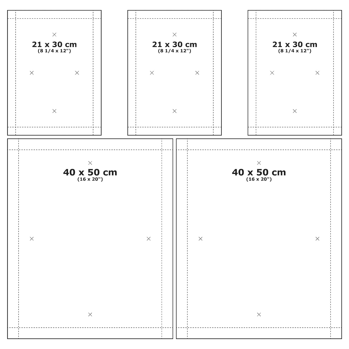 mÅtteby wall template set of 4 ikea