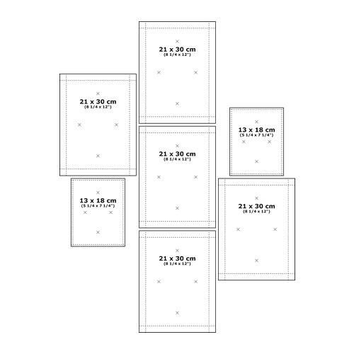MÅTTEBY Wall template, set of 4 - IKEA