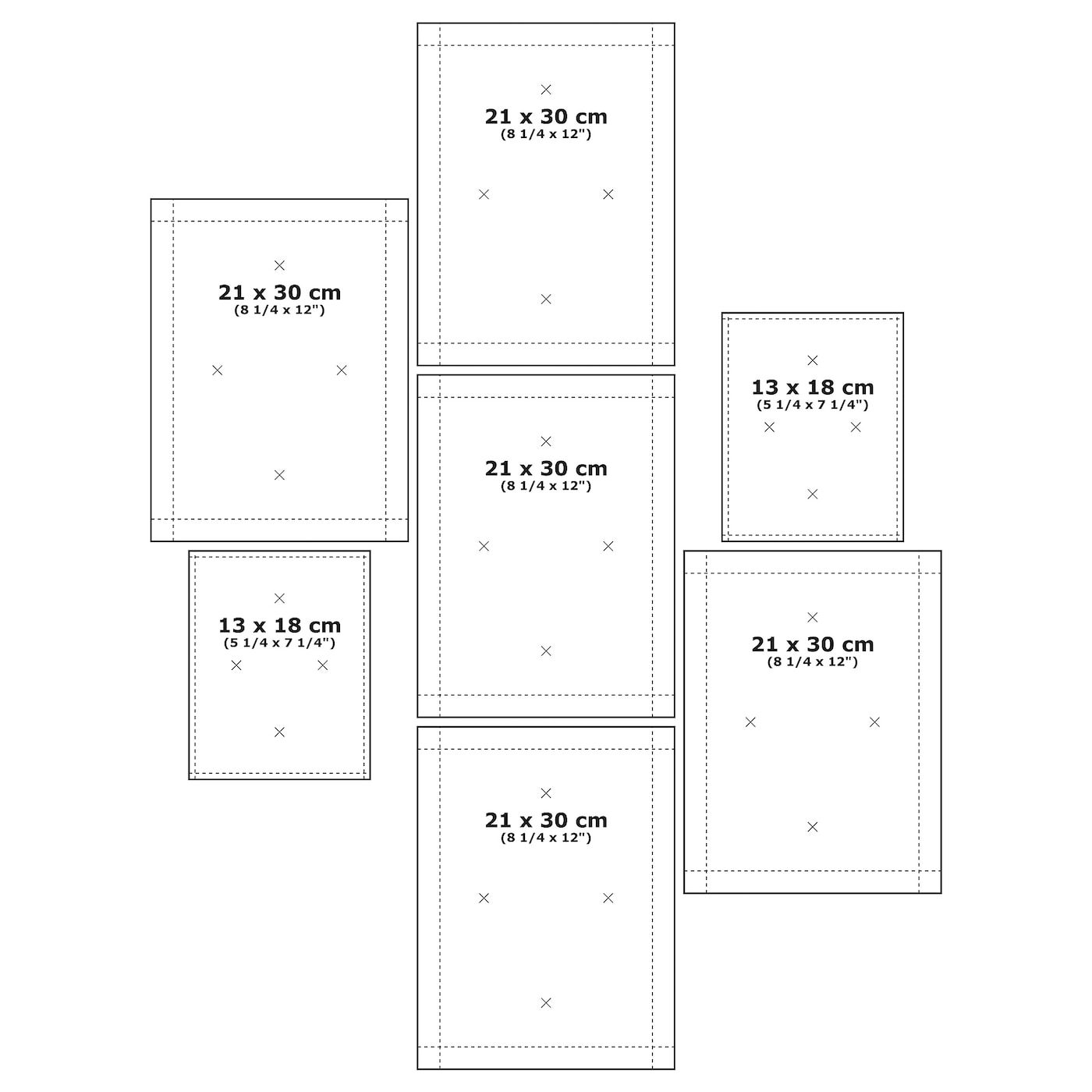 Mtteby Wall Template Set Of 4 Ikea
