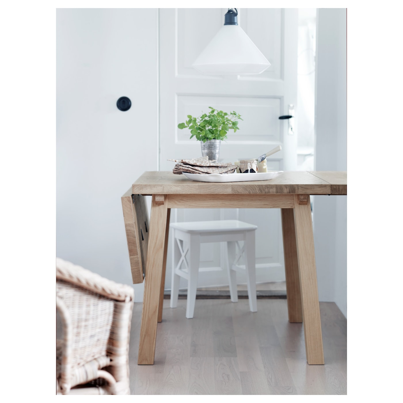 M ckelby drop leaf table oak 79 114 150x79 cm ikea - Ikea neuheiten 2018 ...
