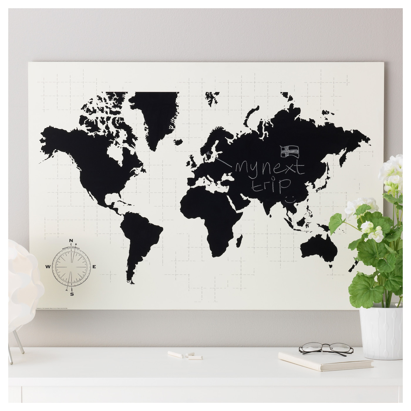M lltorp blackboard planner plan your world 95x67 cm ikea - Tableau ikea noir et blanc ...