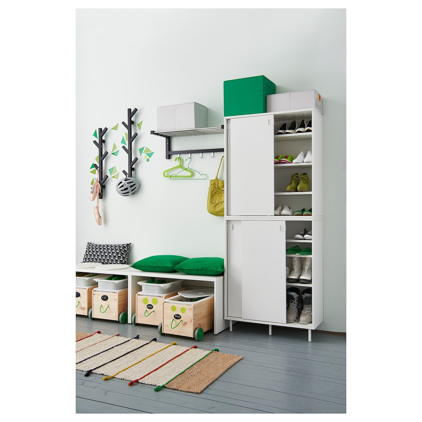 IKEA MACKAPÄR shoe cabinet/storage Ideal in smaller areas since the sliding doors save space.