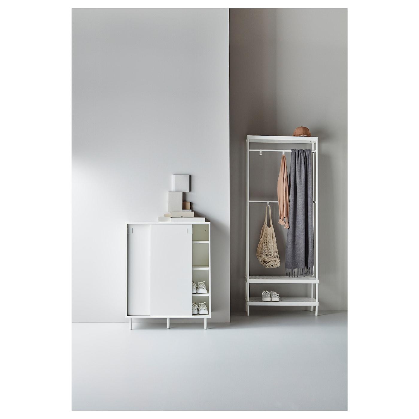 MACKAPÄR white, Coat rack with shoe storage unit IKEA