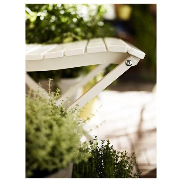 MÄLARÖ Chair, outdoor, foldable white