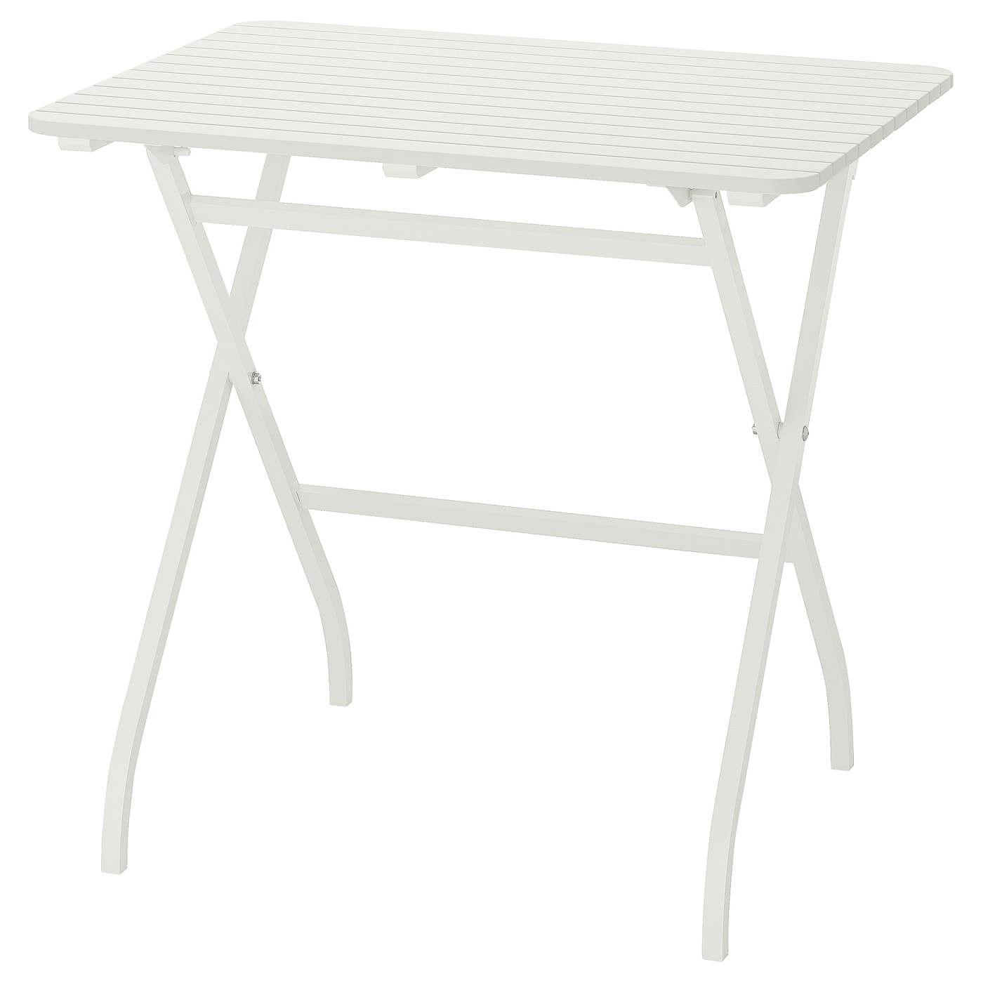 Mälarö Foldable White White Table Outdoor 80x62 Cm Ikea