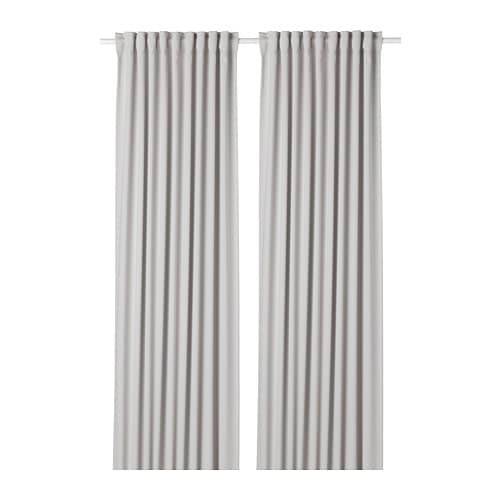 MAJGULL Block-out Curtains, 1 Pair Light Grey 145 X 250 Cm
