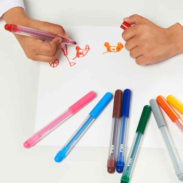 MÅLA Felt-tip pen, mixed colours