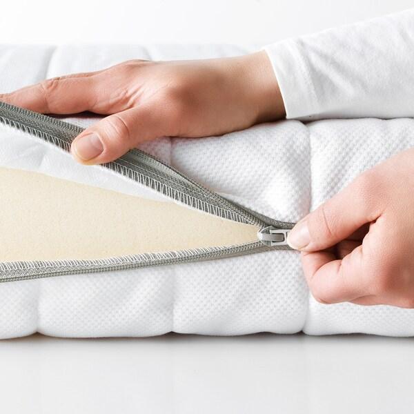 MALFORS Foam mattress, firm/white, Standard Double