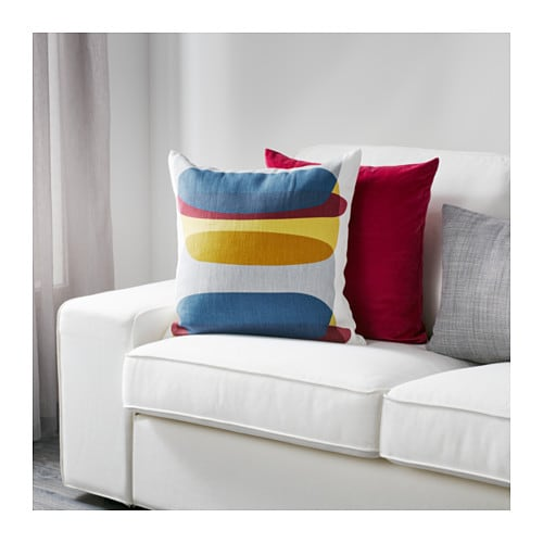 IKEA MALIN FIGUR cushion cover The zipper makes the cover easy to remove.