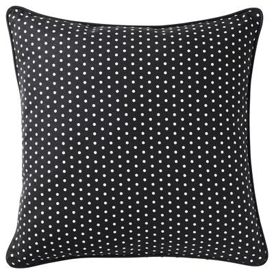 MALINMARIA Cushion, dark grey/white dotted, 40x40 cm