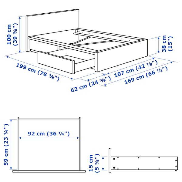 Cm single bed dimensions Bed Sizes
