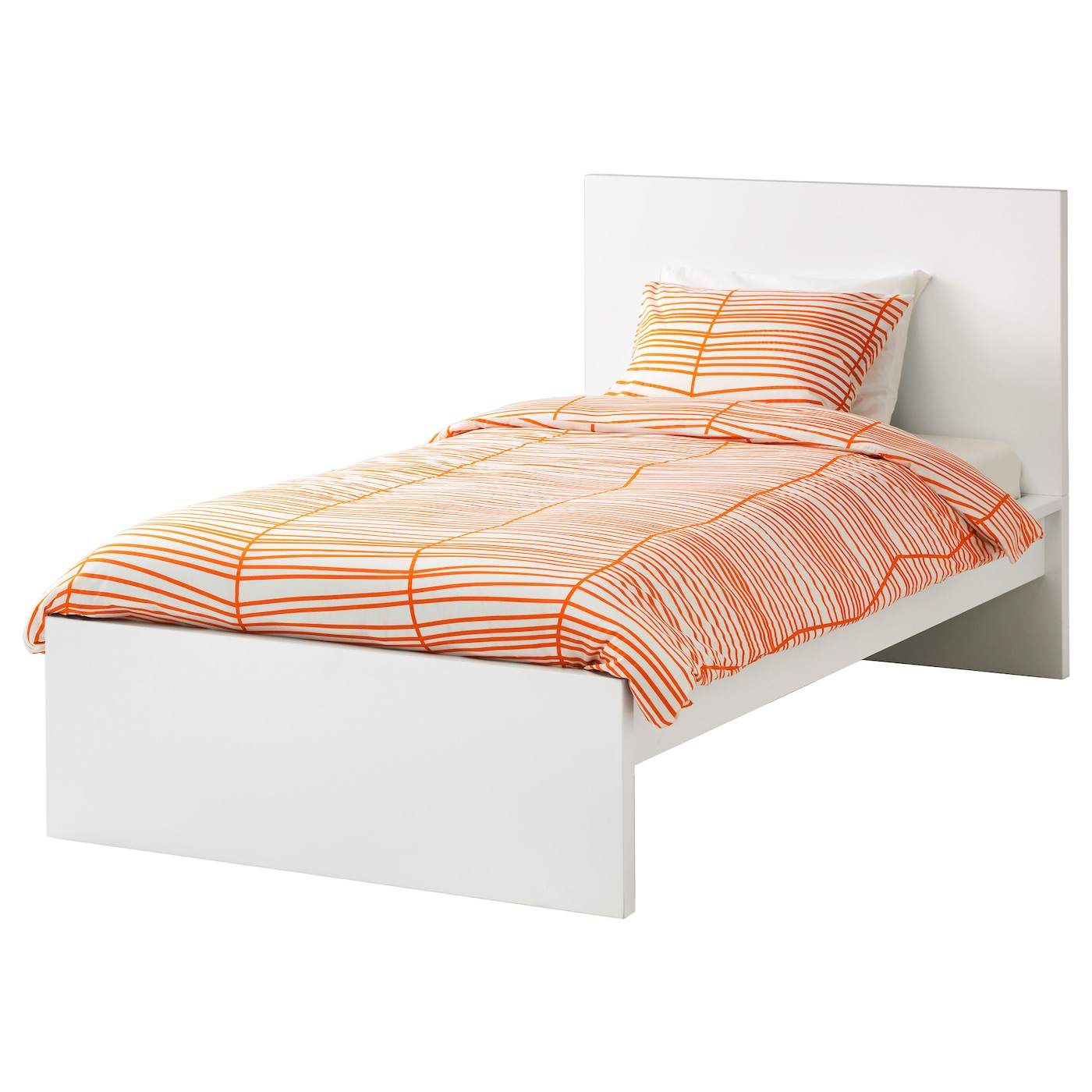 malm bed frame high white lur y standard single ikea. Black Bedroom Furniture Sets. Home Design Ideas