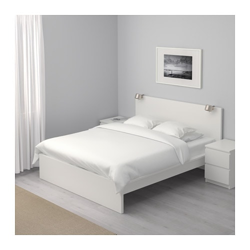 malm bed frame, high white/luröy 140x200 cm - ikea, Hause deko