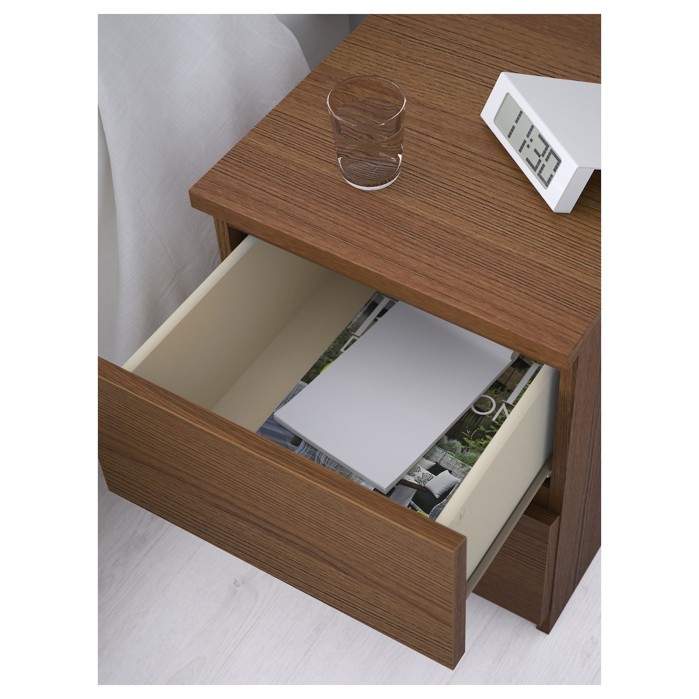 malm chest of 2 drawers brown stained ash veneer 40x55 cm ikea