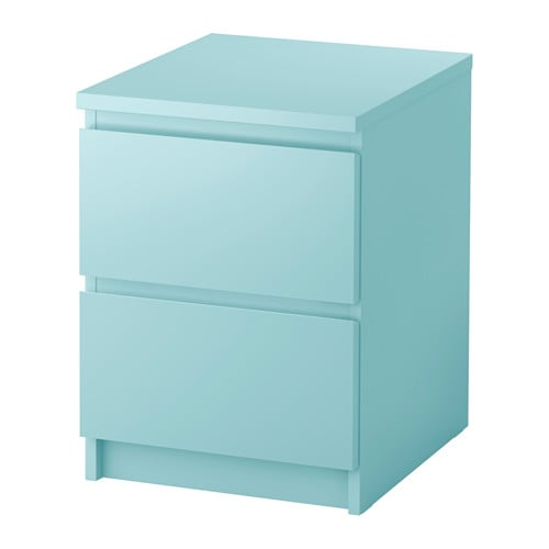 MALM Chest Of 2 Drawers Light Turquoise 40x55 Cm IKEA