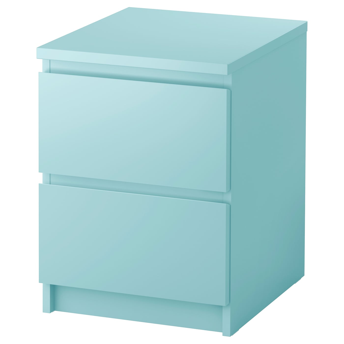 malm chest of 2 drawers light turquoise 40x55 cm ikea. Black Bedroom Furniture Sets. Home Design Ideas
