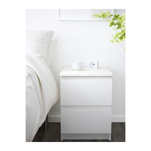 Ikea Zimmer Selbst Gestalten ~ IKEA MALM chest of 2 drawers Can also be used as a bedside table