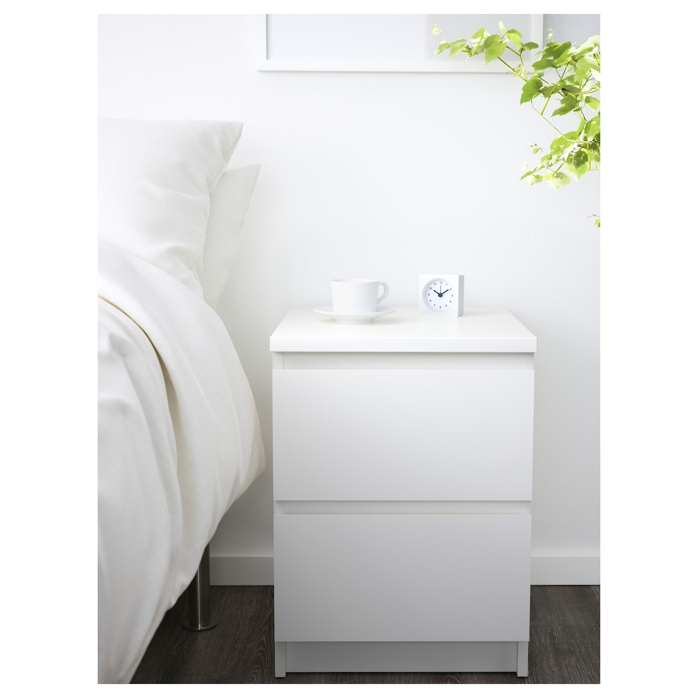 IKEA MALM chest of 2 drawers Can also be used as a bedside table. MALM Chest of 2 drawers White 40x55 cm   IKEA