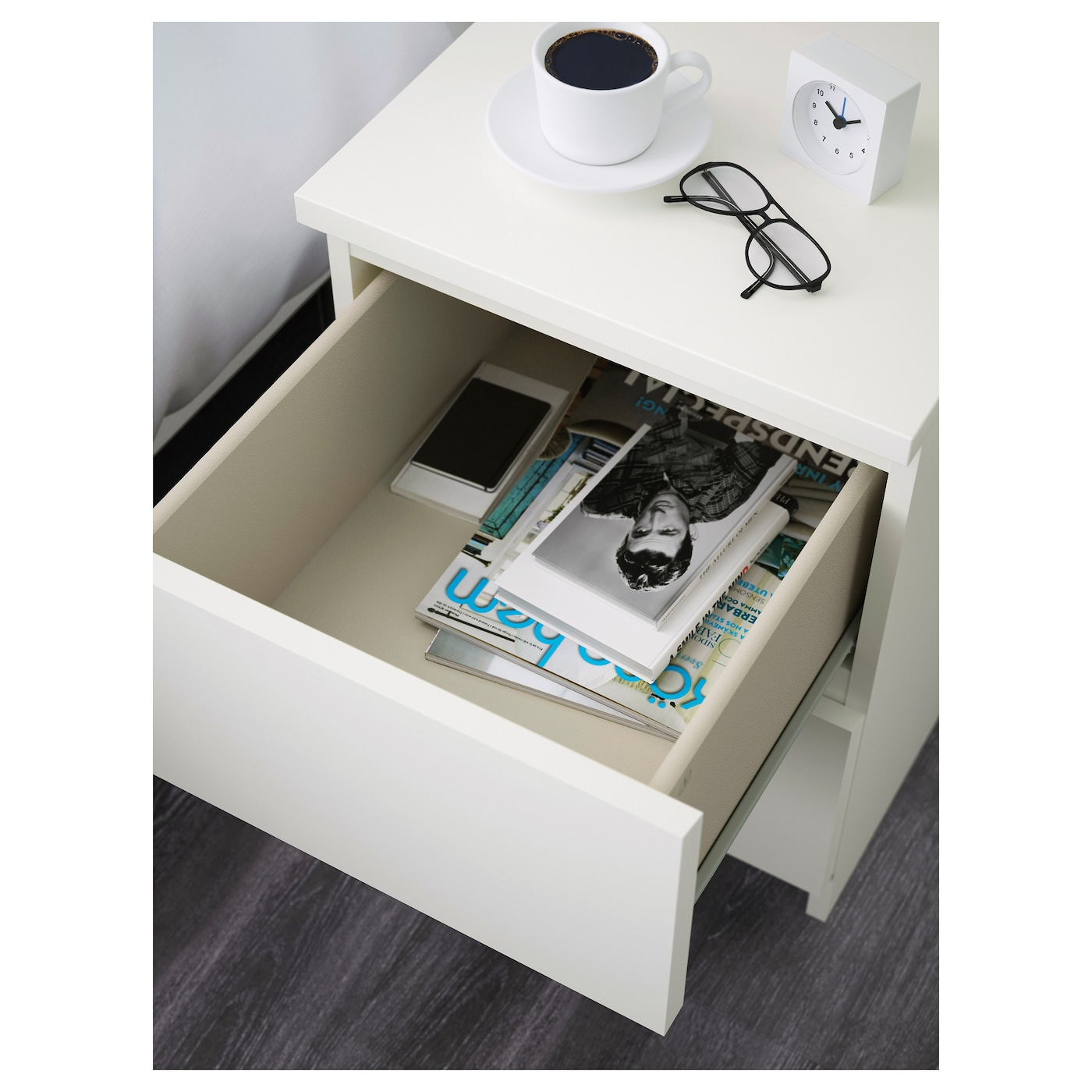 IKEA MALM chest of 2 drawers Can also be used as a bedside table.