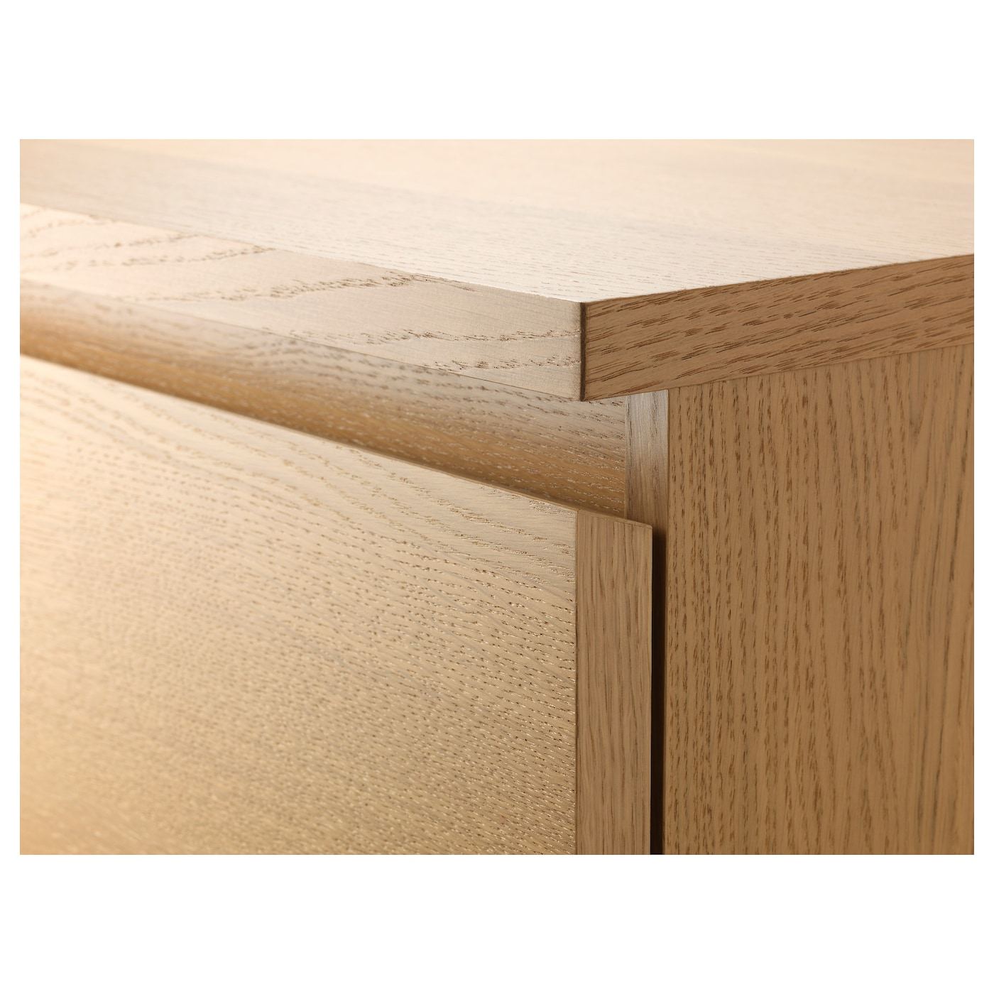 IKEA MALM chest of 3 drawers Real wood veneer will make this chest of drawers age gracefully.
