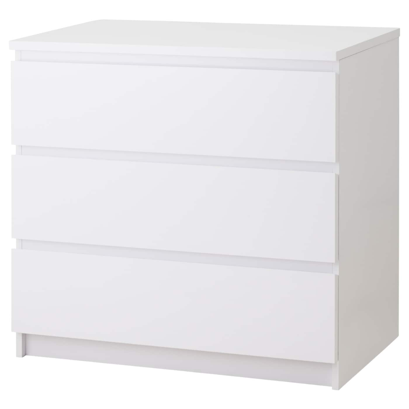 IKEA MALM chest of 3 drawers Extra roomy drawers; more space for storage.