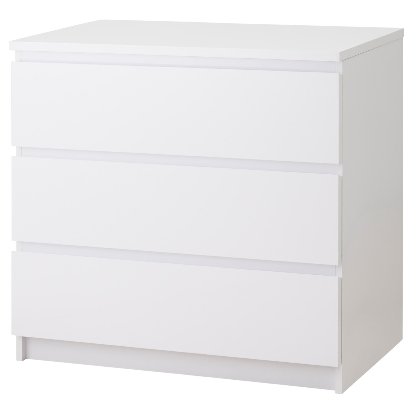 malm chest of 3 drawers white high gloss 80x78 cm ikea. Black Bedroom Furniture Sets. Home Design Ideas