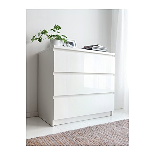 Ikea Malm Chest Of 3 Drawers Extra Roomy More E For Storage