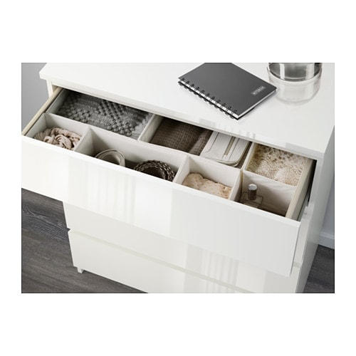 Ikea Zimmer Selbst Gestalten ~ IKEA MALM chest of 3 drawers Extra roomy drawers; more space for