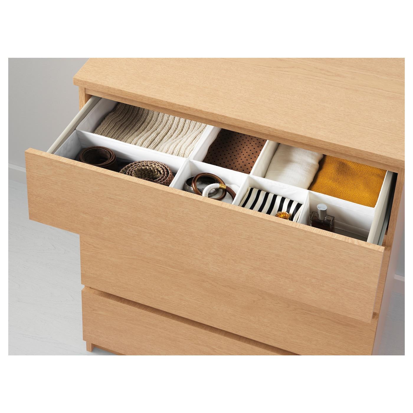 malm chest of 4 drawers oak veneer 80x100 cm ikea. Black Bedroom Furniture Sets. Home Design Ideas