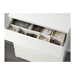 malm chest of 4 drawers white 80x100 cm ikea. Black Bedroom Furniture Sets. Home Design Ideas