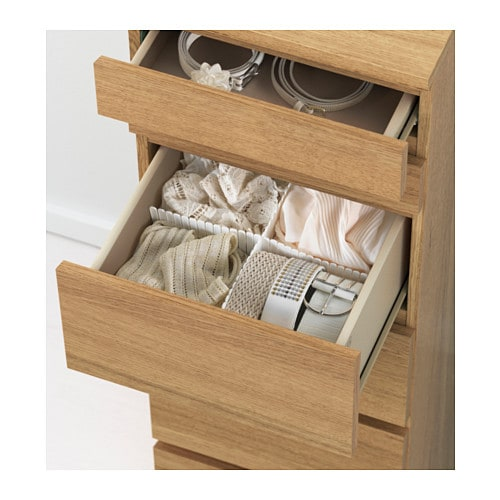 Ikea Malm Chest Of 6 Drawers Built In Mirror Smooth Running With Pull