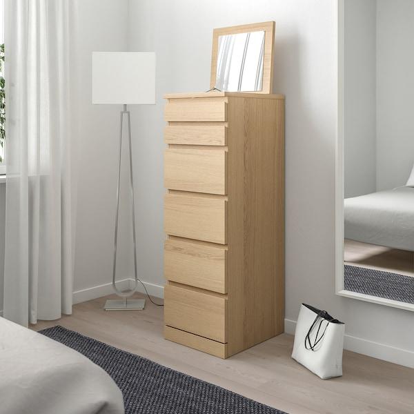 IKEA MALM light oak wardrobe and tall 6