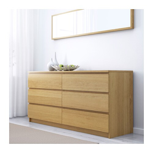 Ikea Malm Chest Of  Drawers Smooth Running Drawers With Pull Out Stop