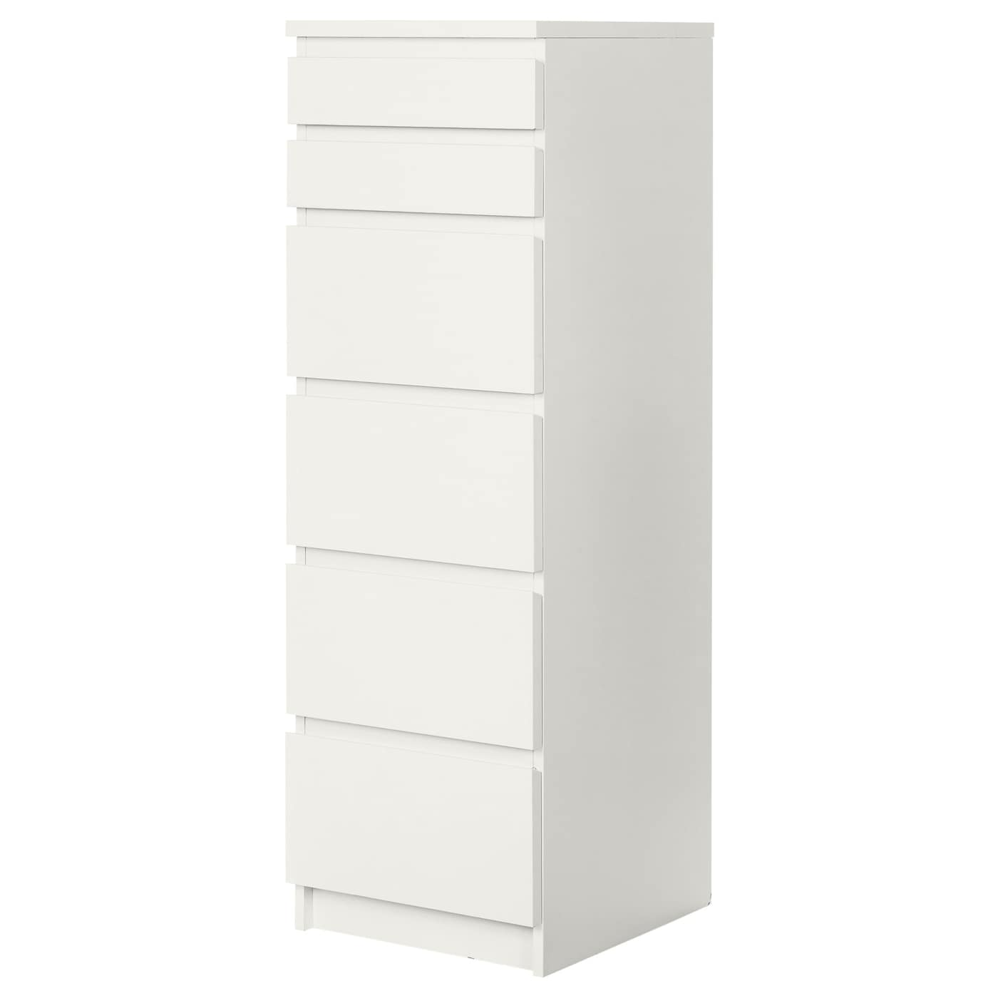 Kommode ikea  MALM Chest of 6 drawers White/mirror glass 40x123 cm - IKEA