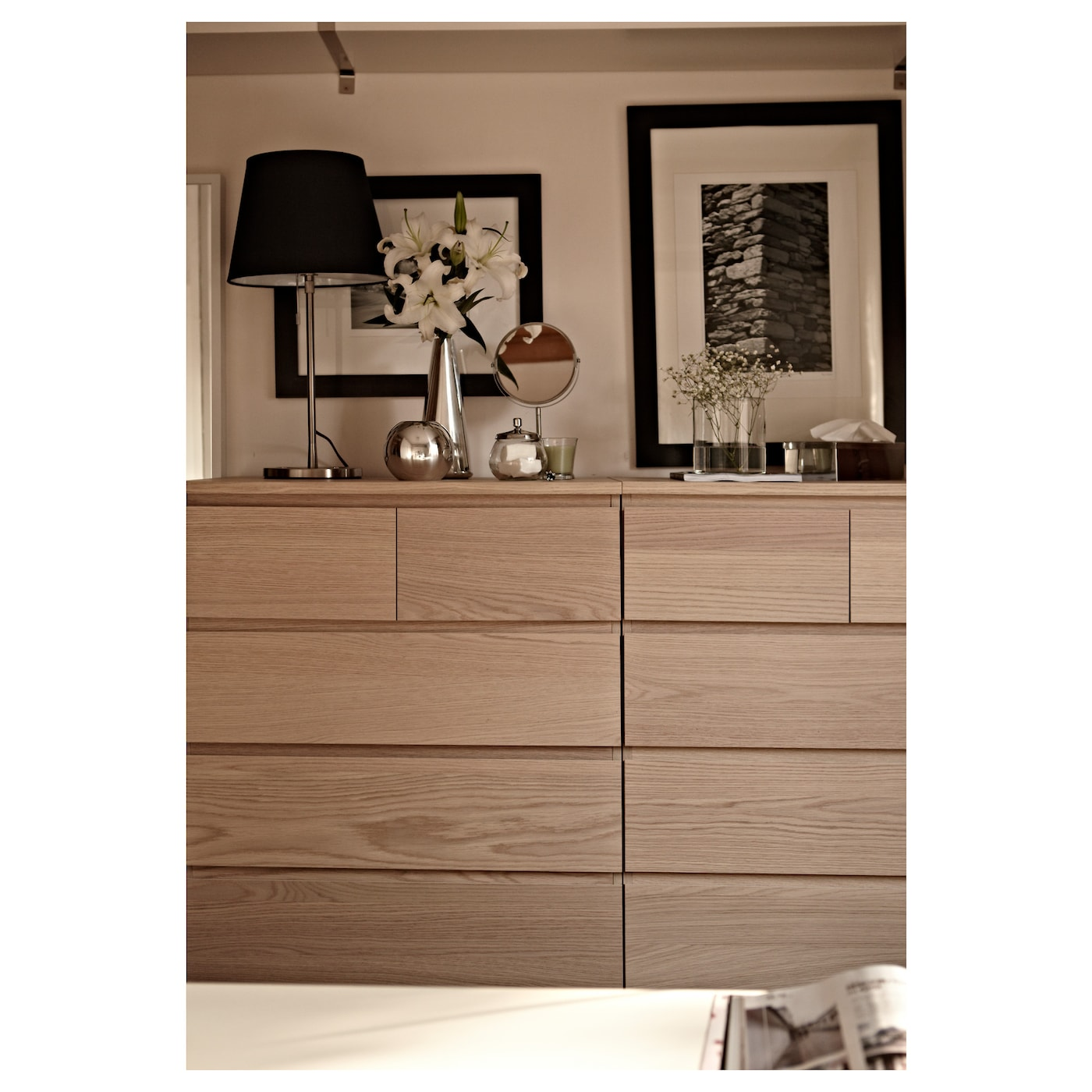 malm chest of 6 drawers white stained oak veneer 80 x 123 cm ikea. Black Bedroom Furniture Sets. Home Design Ideas