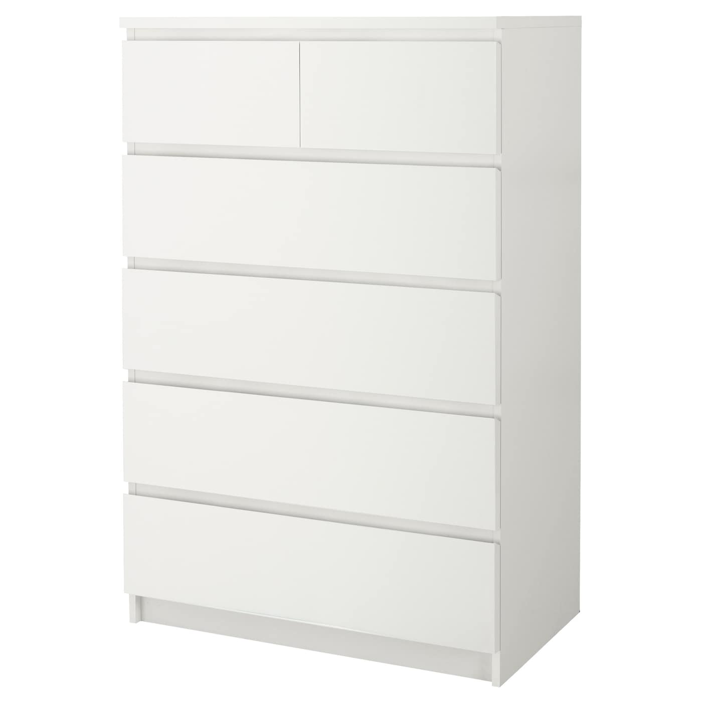 Ikea Malm Chest Of 6 Drawers Smooth Running With Pull Out Stop