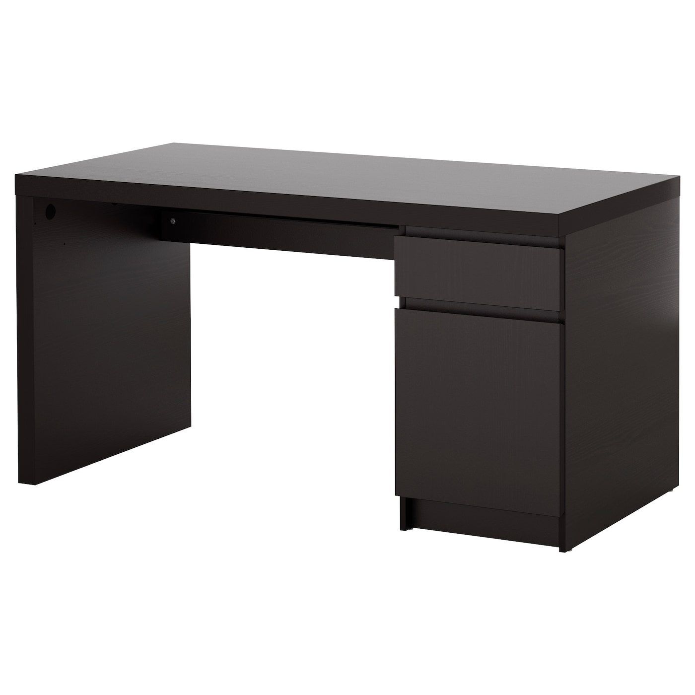 Malm desk black brown 140x65 cm ikea for Ikea drawing desk