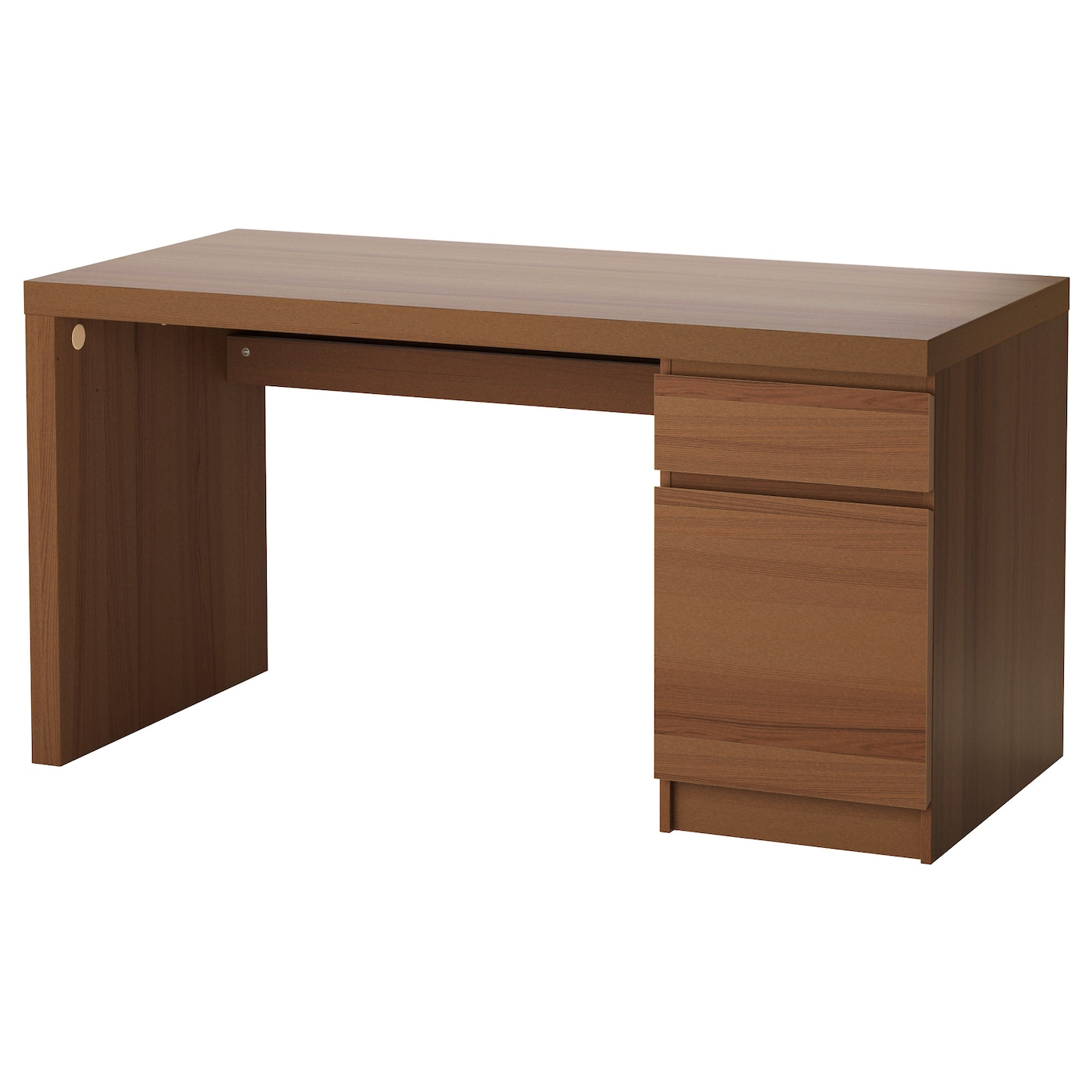 Ikea Kitchen Desk: MALM Desk Brown Stained Ash Veneer 140 X 65 Cm