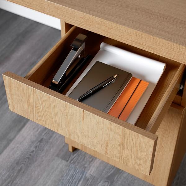 MALM desk oak veneer 140 cm 65 cm 73 cm 50 kg