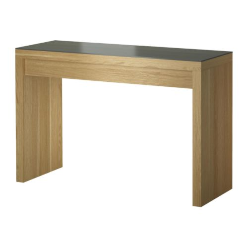 malm dressing table oak veneer 120x41 cm ikea. Black Bedroom Furniture Sets. Home Design Ideas