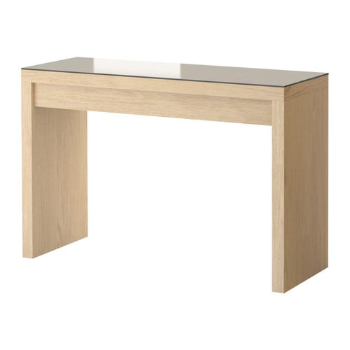 Malm Dressing Table White Stained Oak Veneer 120x41 Cm Ikea