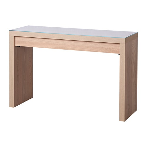 Malm Dressing Table White Stained Oak Veneer 120 X 41 Cm