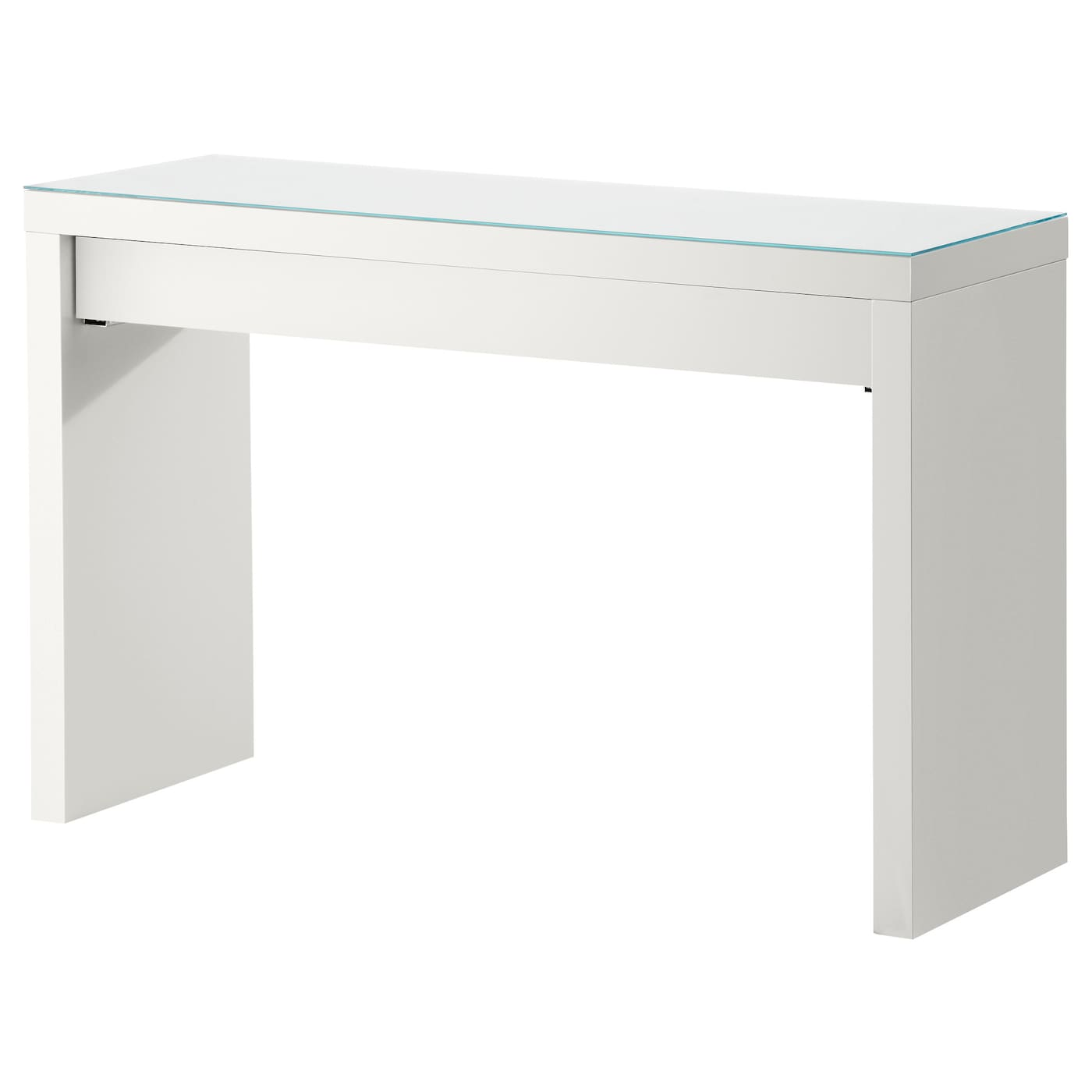 Malm dressing table white 120x41 cm ikea - Table reglable en hauteur ikea ...