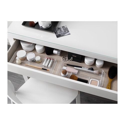 IKEA MALM Dressing Table Smooth Running Drawer With Pull Out Stop.
