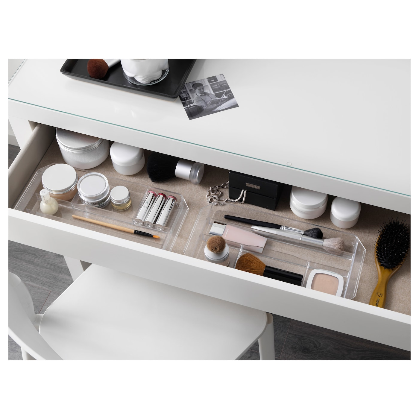 malm dressing table white 120 x 41 cm ikea. Black Bedroom Furniture Sets. Home Design Ideas