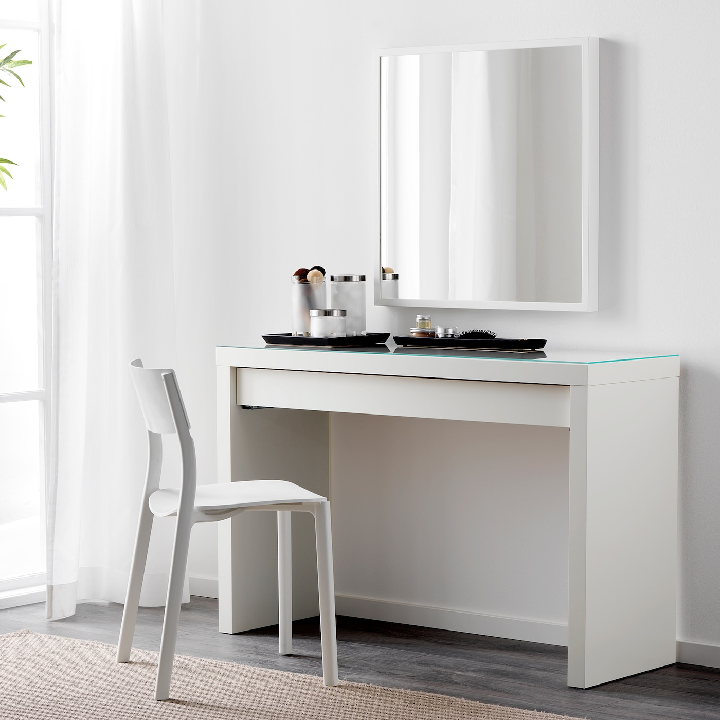 White Dressing Table Malm 120 Cm Width